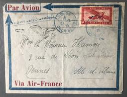 Indochine PA Sur Enveloppe, TAD (bleu) CHOLON COCHINCHINE 21.12.1935 Pour Rennes - (B3701) - Storia Postale