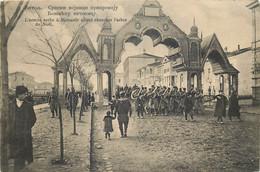 Les Guerres Balkaniques  - L' Armée Serbe à Monastir Allant Chercher L'arbre De Noël - Otras Guerras