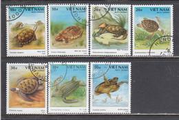 Vietnam 1989 - Les Tortues, Mi-Nr. 2036/42, Used - Vietnam