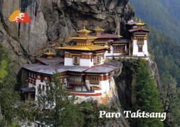 1 AK Bhutan * Das Buddhistische Kloster Taktsang (auch Tigernest Genannt) Im Parotal - Erbaut Im 17. Jahrhundert * - Bhutan