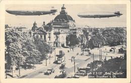 Hindenburg Und L 3127 Graf-Zeppelin Uber Frankfurt A M. Non Viaggiata - Sin Clasificación