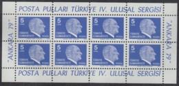 TÜRKEI  2482, Kleinbogen, Postfrisch **, Freimarken: Atatürk, 1979 - Blocchi & Foglietti