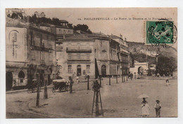 - CPA PHILIPPEVILLE (Skikda / Algérie) - La Poste, La Douane Et La Porte De Stora 1911 (belle Animation) - - Skikda (Philippeville)
