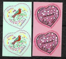 """Paires Des N° 3747B Et 3748B Dont Rare 3748Ba Sans """"La Poste""""  Neufs * * TB= MNH VF  Soldés  Le Moins Cher Du Site ! ! ! - Adhesive Stamps"""