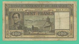 100 Francs - Belgique - 24.07.47.  N° 4261.Y.274 - TB - 100 Francs