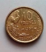 France 10 Francs Guiraud  1958     N° 96 - K. 10 Franchi
