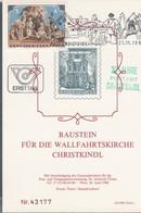 Österreich 1981: ET Baustein Für Die Wallfahrtskirche Christkindl V. 27.11.1981 - FDC