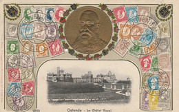 Souvenir De La Belgique-Ostende Le Châlet Royal1907- Un Petit Trou - 1893-1907 Wappen