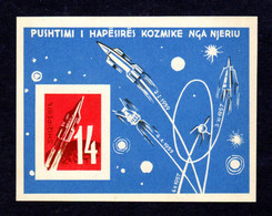 ALBANIE - 1962 - Yvert BF N°6D Non Dentelé  NEUF ** LUXE/MNH - Véhicule Cosmique - Albania
