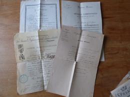 Lot D'un Gendarme Ancien Combattant Guerre De 1870 1871  Dont Diplômes Belfort Du 1 Er Régiment D'Infanterie - Documenti