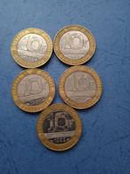 FRANCIA-10 FRANCHI (Lotto Di 5 Monete Anni Diversi) - K. 10 Franchi