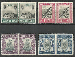 South Africa 1933. Voortrekker Set. SACC 51-54*, SG 50-53*. - Nuovi