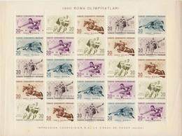 1960 - Turchia - Roma Olimpiyatlari - Blocchi & Foglietti
