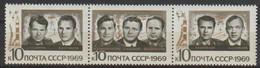 UdSSR 1970 MiNr.3682 - 3684 3er Streifen ** Postfrisch Gruppenflug Von Sojus 6,7und 8 (R 351) Günstige Versandkosten - Nuovi