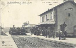 Cpa 42 – Usson Saint Pal – La Gare – Passage De Trains De La Ligne Bonson-Sembadel - Otros Municipios