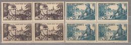 FRANCE 1940 French Soldier Bloc De 4 Yv 451-452 Mi 464-465 MNH Neuf (**) #17126 - Ongebruikt