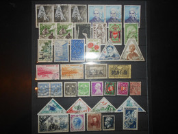 Monaco Lot , 39 Timbres Obliteres - Collections, Lots & Series