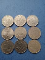 FRANCIA- 1/2 FRANCO (Lotto Di 9 Monete Anni 70 ) - Non Classificati