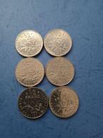 FRANCIA- 1/2 FRANCO (Lotto Di 6 Monete Anni Diversi ) - Non Classificati