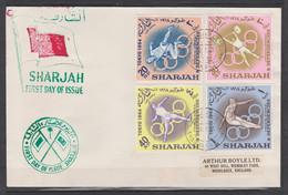 Sharjah JO Tokyo 1964 FDC Perf - Summer 1964: Tokyo