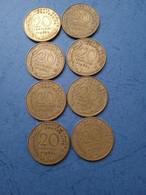 FRANCIA- 20 CENTESIMOS (Lotto Di 8 Monete Anni 60 ) - E. 20 Centesimi