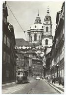 Praha Prag Tram Tramway Strassenbahn Tatra St. Nicholas Cathedral 60s - Tschechische Republik