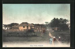 AK Singapur, People Before A Malay Village - Singapore
