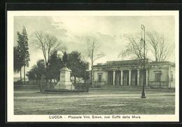 Cartolina Lucca, Piazzale Vittoria Emanuele Con Caffè Delle Mura - Lucca