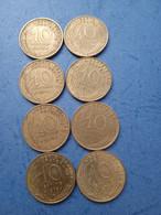 FRANCIA- 10 CENTESIMI (Lotto Di 8 Monete Anni 70) - D. 10 Centimes