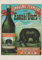 COMPAGNIE FERMIÈRE DES EAUX DE L'OURS - Reproduction Publicitaire Sur Carte. - Advertising