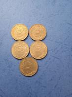 FRANCIA- 5 CENTESIMI (Lotto Di 5 Monete Anni 70) - C. 5 Centesimi