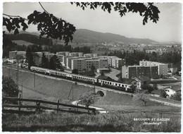 St. Gallen Bruggen Eisenbahn Railway Bahn Tramway Train Zug 60er - SG St. Gallen