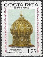 COSTA RICA 1977 Air. 50th Anniversary Of Coronation Of Our Lady Of The Angels - 1col.25 - Our Lady's Crown MNG - Costa Rica