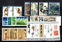 Chine/China Six Séries Complètes Neufs ** MNH 1979/1984. TB. A Saisir! - Collections, Lots & Series