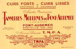 Buvard TPMA Tanneries Modernes De Pont Audemer (27) - T