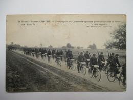 COMPAGNIE  DE   CHASSEURS   CYCLISTES   PATROUILLANT  .....                 TTB - War 1914-18