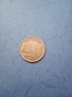 FRANCIA- 100 FRANCHI 1954 B - N. 100 Francs