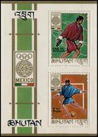Bhutan 1968 Block 19A MNH Summer Olympics, Mexico - Bhutan