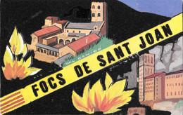 Focs De Sant Joan. Cartolina In Velluto. Non Viaggiata - Sin Clasificación