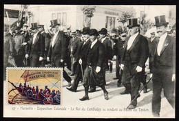 CAMBODGE: Gros Plan Sur Le Roi Sisowath En Visite à L'exposition Coloniale à Marseille En 1906 - Cambodge