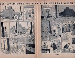 Hergé - Tintin -Feuilles Découpées Dans Le Petit Vingtième N° 52 Du 14/02/1935 - TINTIN En EXTREME-ORIENT '' LOTUS BLEU' - Kuifje