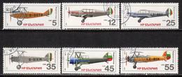 Bulgaria 1981 Mi# 3005-3010 Used - Airplanes - Usados