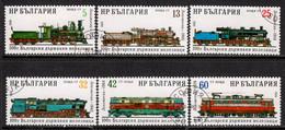 Bulgaria 1988 Mi# 3637-3642 Used - State Railways, Cent. / Locomotives / Trains - Usados