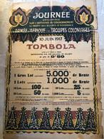 RARE ++ / AFFICHE ANCIENNE GUERRE HENRI DE WAROQUIER 1917 TOMBOLA L'ARMEE D'AFRIQUE LES TROUPES COLONIALES - Posters