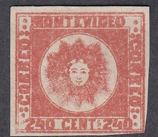 Uruguay, Scott #6, Mint No Gum, El Sol De Mayo, Issued 1858 - Uruguay