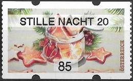 """2020 Österreich Austria AWZ Mi. 66-7 **MNH Automatenmarken :    Weihnachten. """"Stille Nacht 20  """" - 2011-... Unused Stamps"""