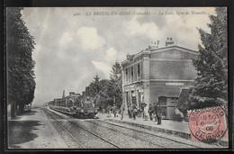 CPA 14 - Le Breuil-en-Auge, La Gare - Ligne De Trouville - Train - Sonstige Gemeinden