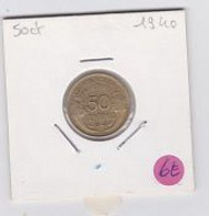 50 Cts Morlon Cupro-aluminium  1940  Sup - G. 50 Centimes