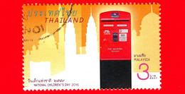TAILANDIA - THAILAND - Usato - 2016 - Giornata Dei Bambini - Cassette Postali - Mailboxes - Malaysia - 3 - Tailandia
