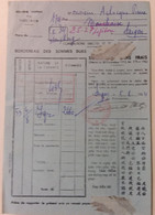 INDOCHINE / VIETNAM . CONTRIBUTIONS DIRECTES . SAIGON . 1954 - Historical Documents
